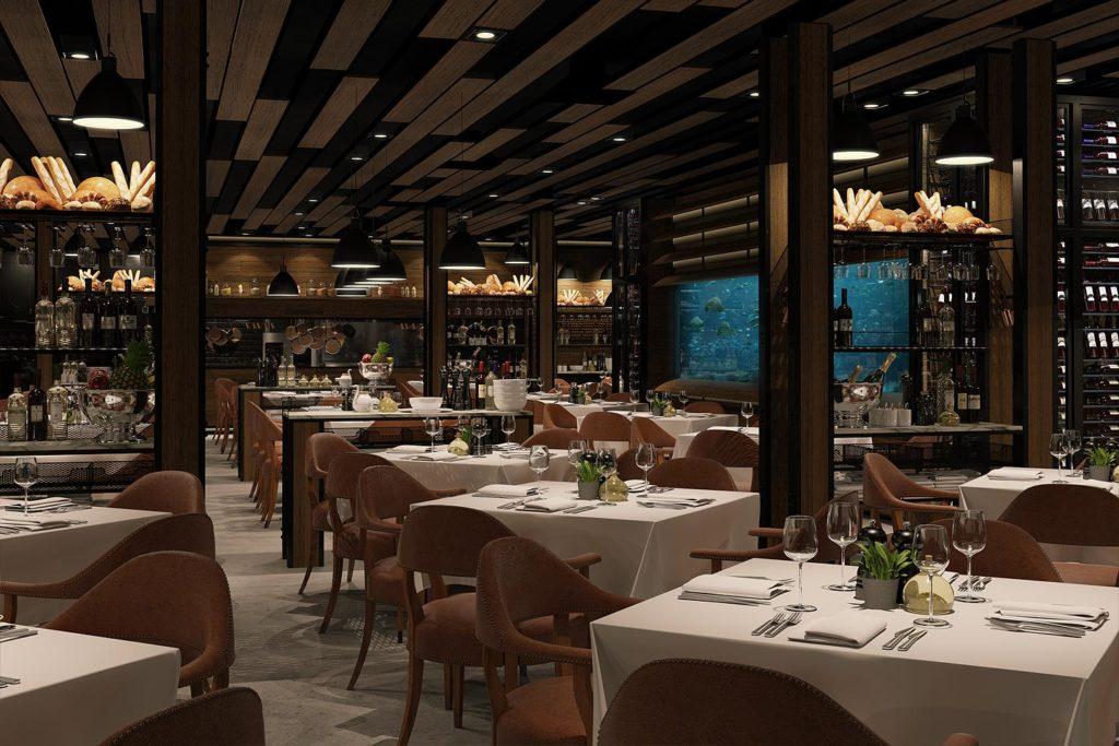 Ocean seafood restaurant carroll design