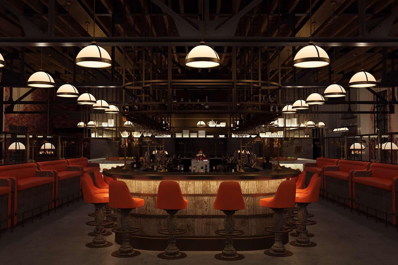 Opera bar grill carroll design - Restaurant bar and grill ...